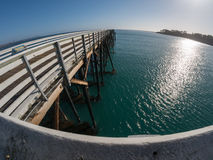 Fisheye view of San Simeon Pier Royalty Free Stock Photography