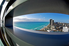 Fisheye view of South Florida Royalty Free Stock Image