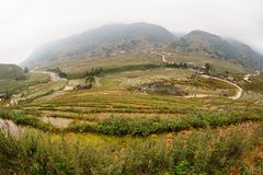 Fisheye view in Tavan Village Sapa. Royalty Free Stock Photo