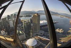 Fisheye View of Vancouver, British Columbia Stock Photo