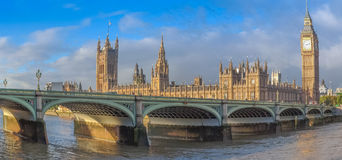 Fisheye view of Westminster Bridge Stock Images
