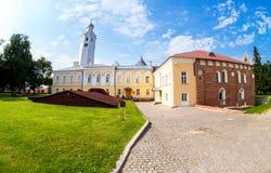 Fisheye widok na podwórzu Novgorod Kremlin 1044 Obraz Royalty Free