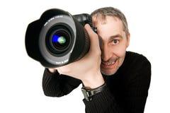 fisheyefotofotograf Royaltyfri Bild