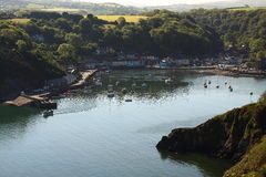 Fishguard bay and harbour Royalty Free Stock Photography