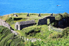 Fishguard Fort. Fishguard, Pembrokeshire, Wales, UK was built in 1781 after a raid by a pirate ship Stock Image