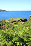 Fishguard Fort. Fishguard, Pembrokeshire, Wales, UK was built in 1781 after a raid by a pirate ship Stock Photo