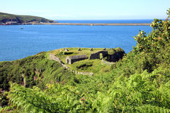 Fishguard Fort. Fishguard, Pembrokeshire, Wales, UK was built in 1781 after a raid by a pirate ship Royalty Free Stock Images