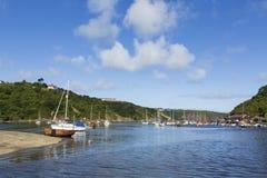 Fishguard-Hafen, West-Wales Großbritannien lizenzfreie stockbilder