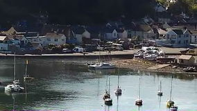 Fishguard harbour A Stock Images