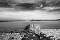 Φυσική άποψη πέρα από τον κόλπο Fishguard στην Ουαλία, UK στοκ εικόνα με δικαίωμα ελεύθερης χρήσης