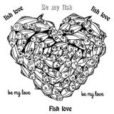 Fishheart Royaltyfri Bild