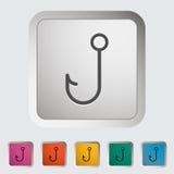 Fishhook. Single icon Vector illustration Stock Photos