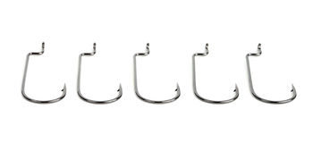 Fishhook. On a white background royalty free stock images