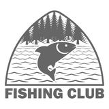 Fishinf club logo template Royalty Free Stock Photos