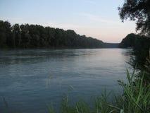 Fishing湖在德国 免版税库存照片