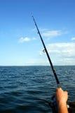 Fishing. Sea fishing - fishing from the ship's side Stock Photos