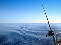 Fishing. In the high sea Stock Image