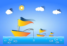 Fishing vector illustration