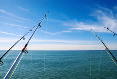 Fishing. On deep ocean,day time Stock Images
