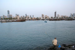 Fishing. On arabian gulf stock photo