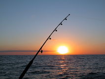 Fishing. At Atlantic Ocean Royalty Free Stock Photos