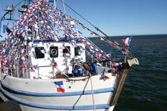 Fishing Acadian Boat, New Brunswick Stock Image