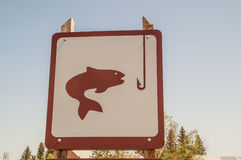 Fishing Access Site Sign Royalty Free Stock Photo