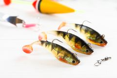 Fishing accessories Stock Photography