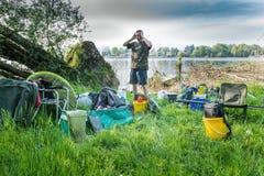 Fishing adventure Stock Image
