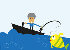 Fishing adventure Stock Photography