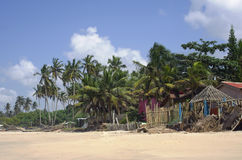 Fishing African village Royalty Free Stock Images