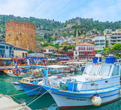 Fishing in Alanya Royalty Free Stock Images