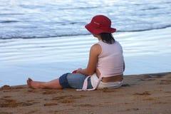 Fishing Alone. Taken at Brampston Beach in Far North Queensland, Australia Stock Photography