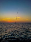 Fishing With Alone Sea, Ajman Royalty Free Stock Photo