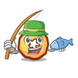 Fishing apple chips presented on character boards royalty free illustration