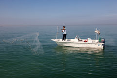 Fishing in the Arabian Gulf Royalty Free Stock Photography