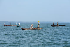 Fishing in Arabian sea stock image
