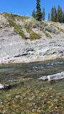 Backcountry river. Fishing a backcountry river. Freshwater, cutthroat trout stock images