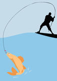 Fishing background Royalty Free Stock Photography
