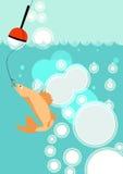 Fishing background Stock Images