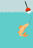 Fishing background Stock Photo
