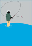 Fishing background Stock Images