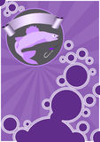 Fishing background. Fishing poster or flyer background with space Stock Photography