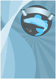 Fishing background. Fishing poster or flyer background with space Stock Image