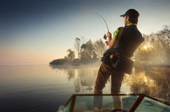 Fishing background Stock Image