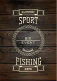 Fishing badges logos and labels for any use Royalty Free Stock Photography
