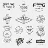 Fishing badges logos and labels for any use Stock Photos