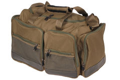 Fishing bag (Clipping path) Stock Images
