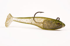 Fishing bait. With hook - studio isolated Stock Photo