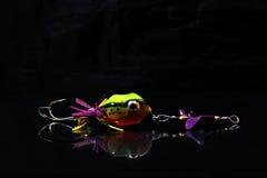Fishing Bait on Black Background Stock Photography